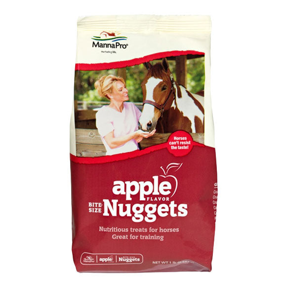 MannaPro Bite-Size Nuggets Apple Horse Treats 1lb Bag
