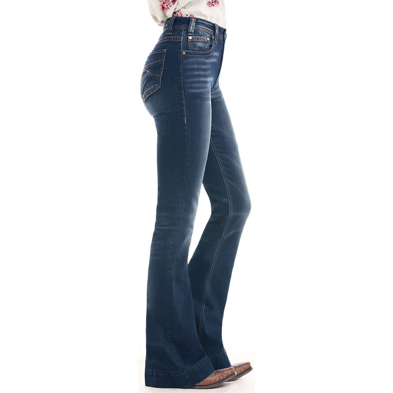 Rock & Roll Denim Women's High Rise Trouser Jeans