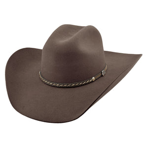 Justin Bent Rail 6X Crowell Felt Brown Cowboy Hat