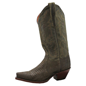 Dan Post Exotic Green Lizard Cowgirl Boots