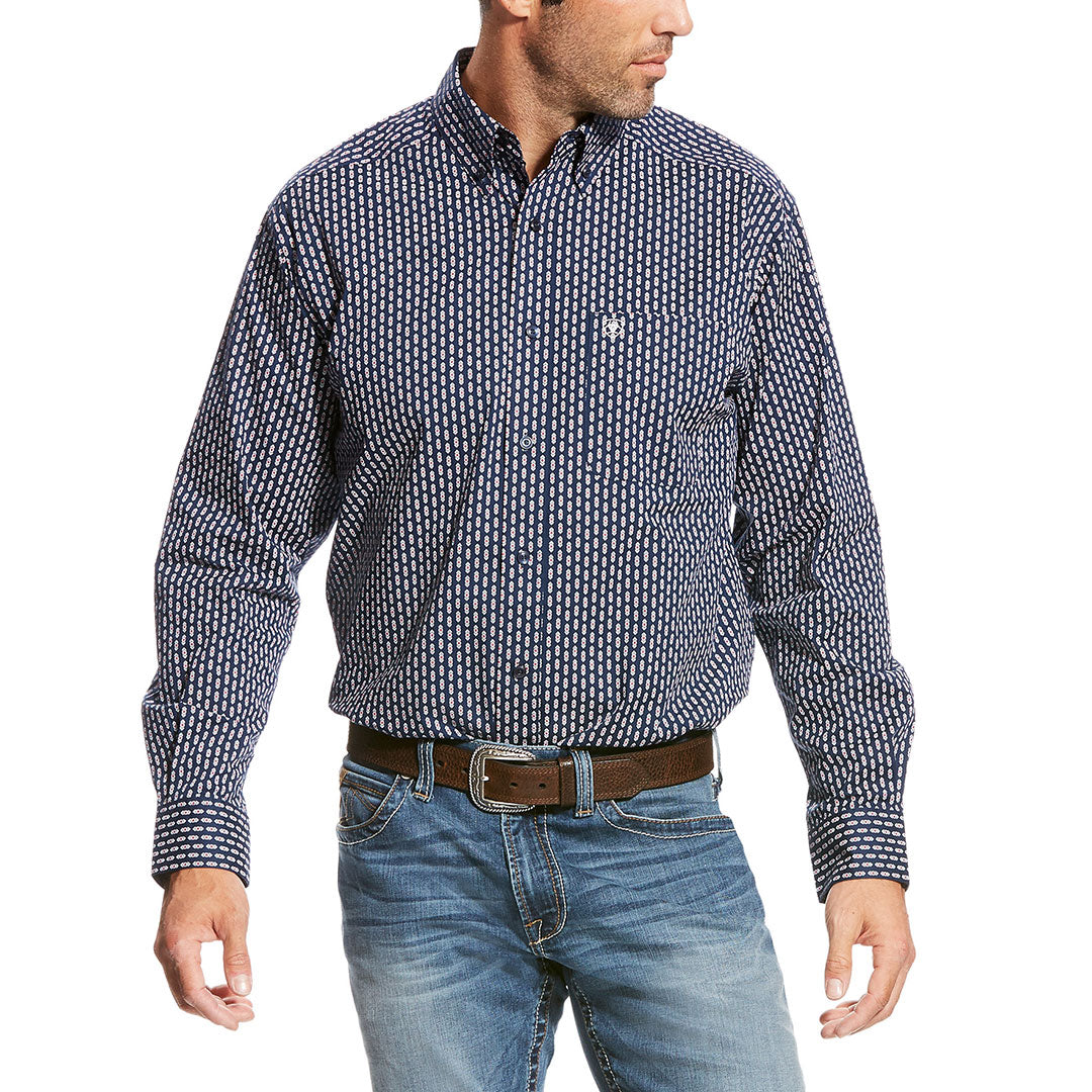Ariat Sargas Navy Print Shirt