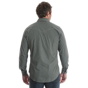 Wrangler Retro® Green & Brown Print Shirt