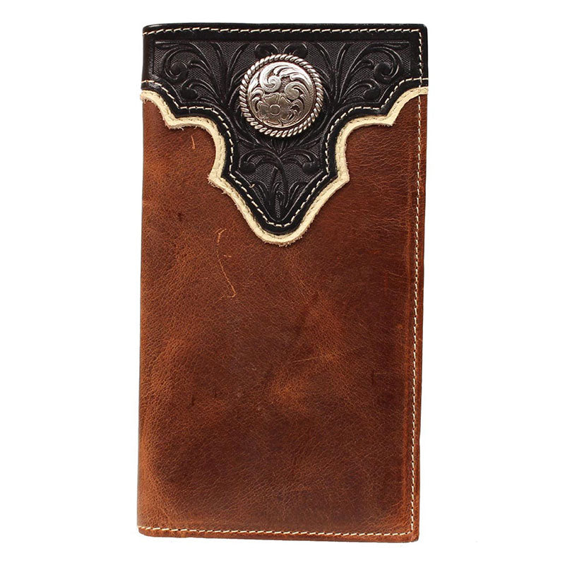 Ariat Tooled Overlay Rodeo Wallet
