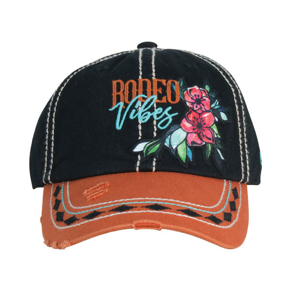 Catchfly Black & Rust Rodeo Vibes Womens Cap