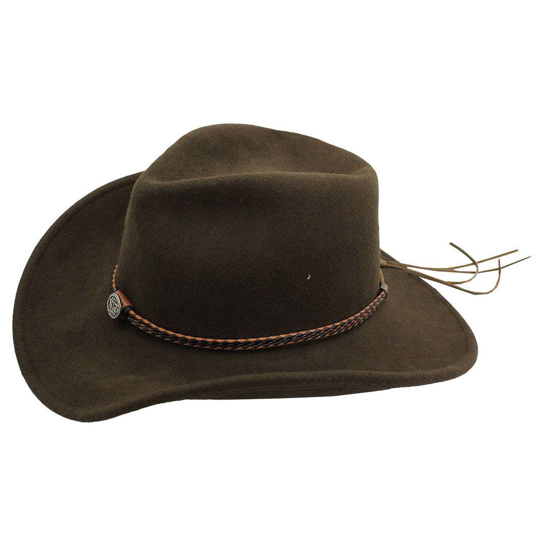Jack Daniel's Crushable Brown Wool Hat