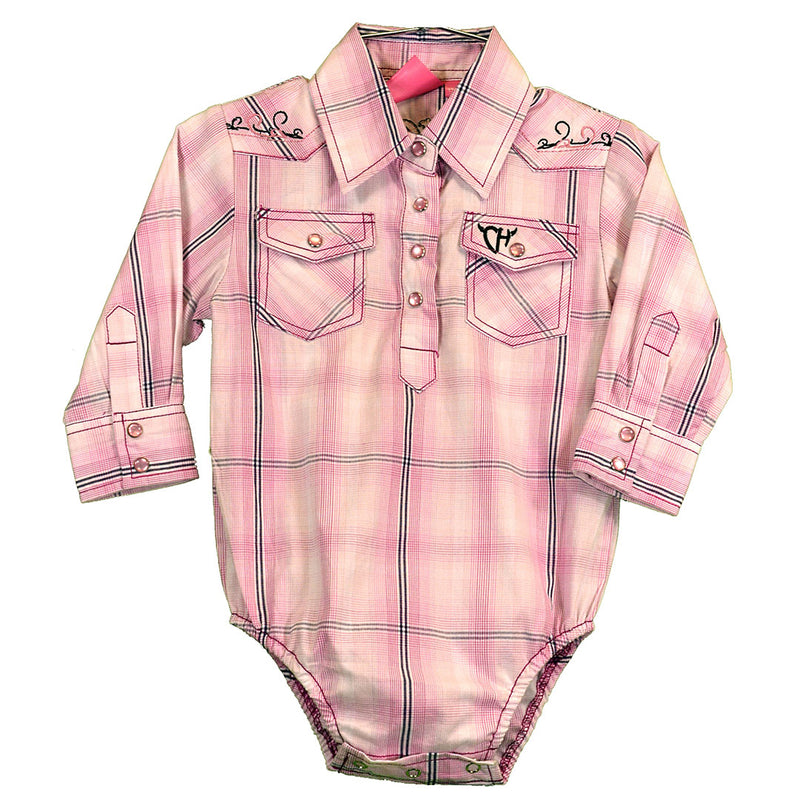 Cowgirl Hardware Pink Embroidered Romper