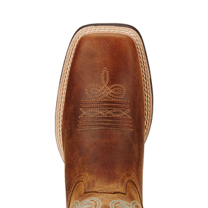 Ariat Round Up Light Brown Cowgirl Boots