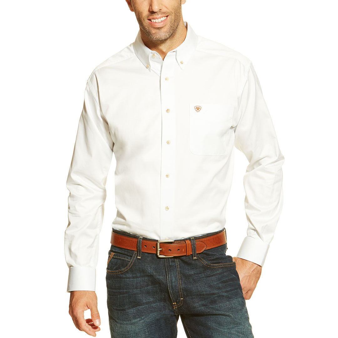 Ariat Solid Twill Western Shirt