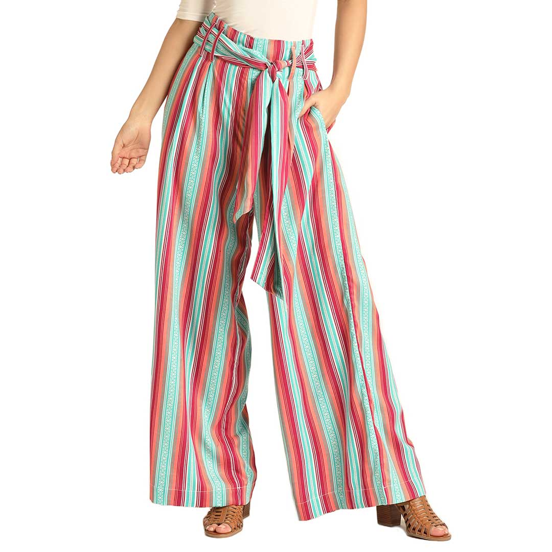 Rock & Roll Cowgirl Women's Stripe Wide Leg Pant
