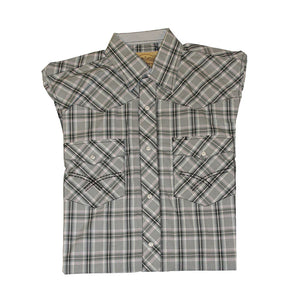 Cowboy Collection Black Grey & Green Plaid Shirt