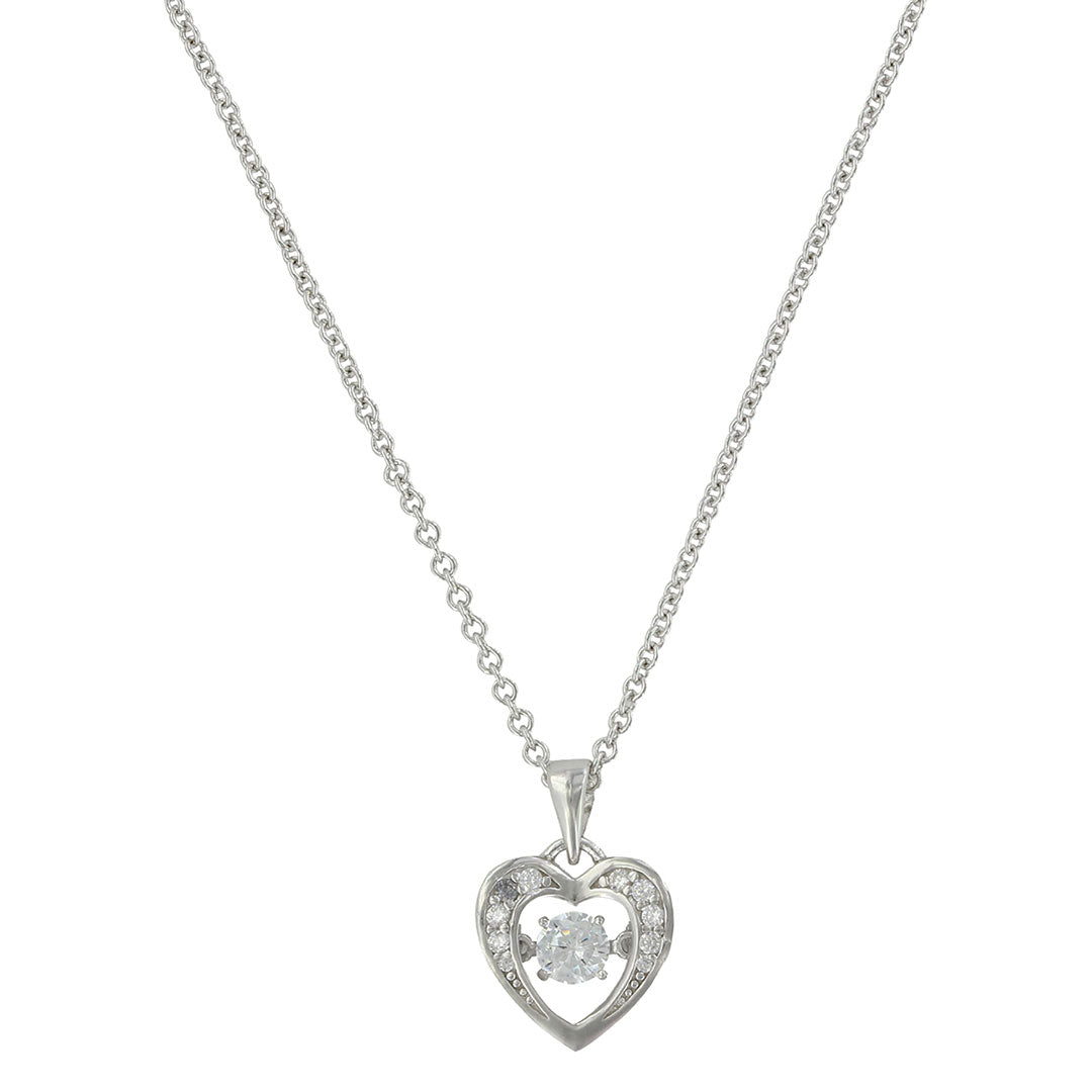 Montana Silversmiths Let's Dance A Little Dance Heart Necklace