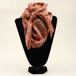 M&F Western Products Red Floral Wild Rag