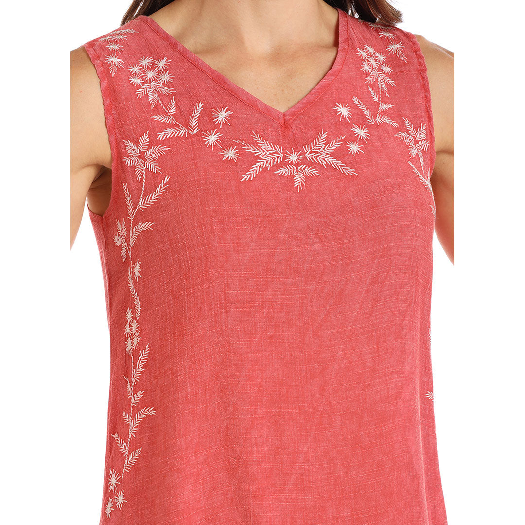 Panhandle Embroidered Sleeveless Top