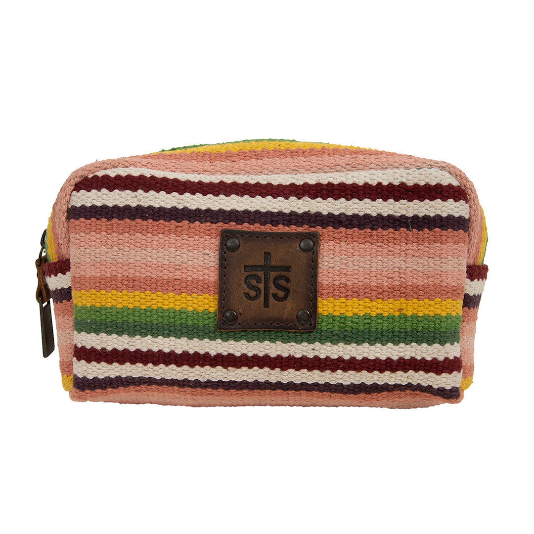 STS Ranchwear Serape Buffalo Girl Cosmetics Bag-Small