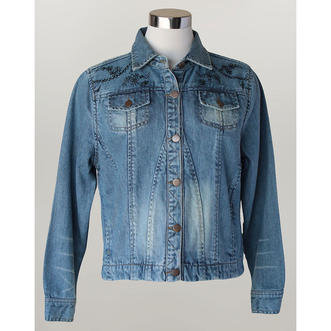 Keren Hart Embroidered Denim Jacket