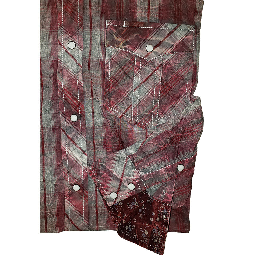 Cowboy Collection Burgundy Plaid Shirt