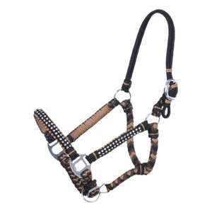 Tough 1 Mini Braided Cord Brown & Tan Halter