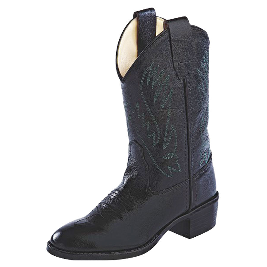 Old West Kids Black Western Boots