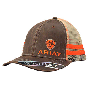 ad1ff1c89 Ariat Oilskin Brown & Orange Cap