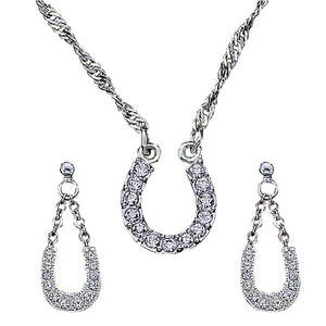 Montana Silversmiths Crystal Clear Horseshoe Jewelry Set