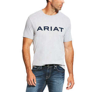 Ariat Branded Athletic Grey Mens Tee