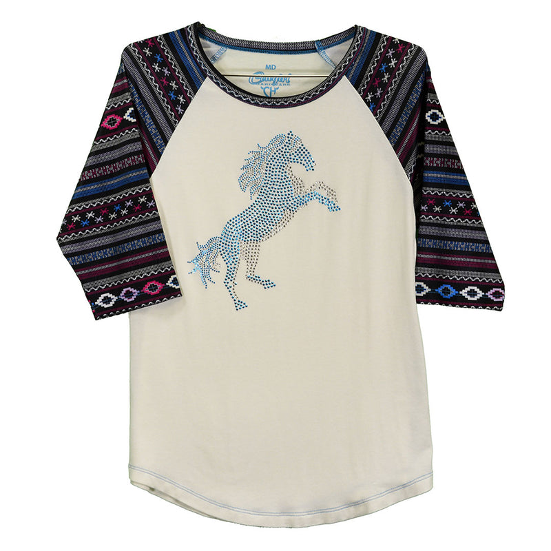 Cowgirl Hardware Stormy Horse Baseball Tee