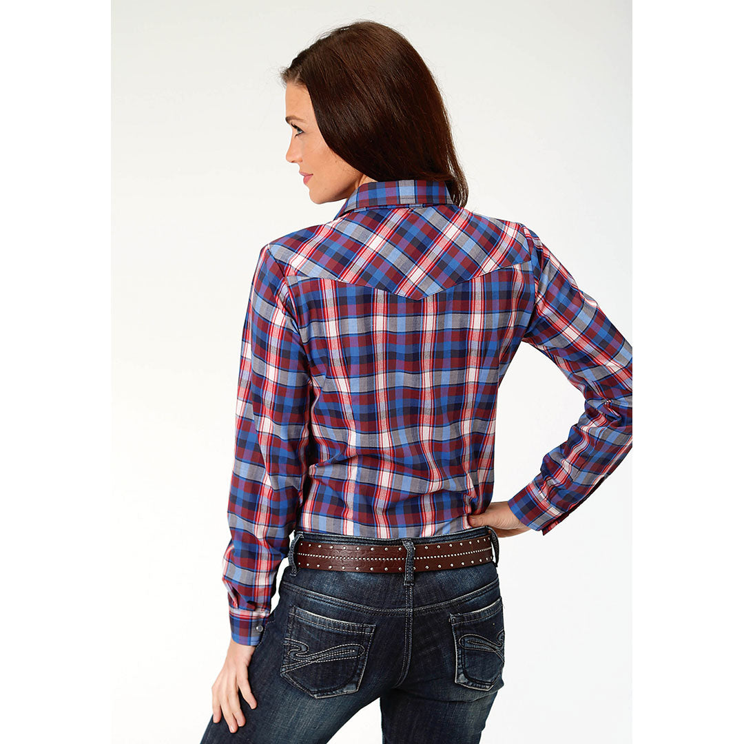 Roper Red Black & Blue Plaid Shirt