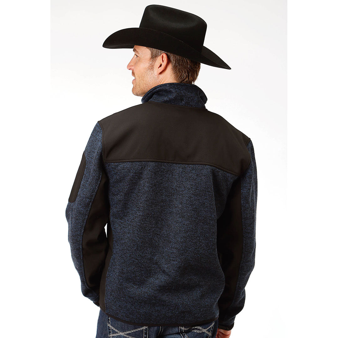Roper Sweater Bonded Fleece Mens Blue Jacket