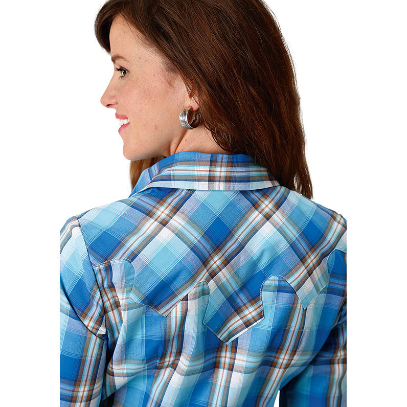 Roper Blue Panes Plaid Shirt