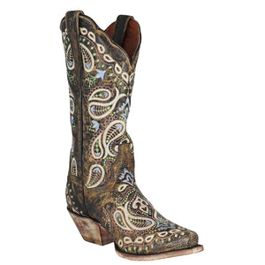 Dan Post Julissa Paisley Embroidered Cowgirl Boots