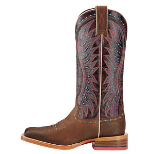 Ariat Vaquera Khaki Sunset Purple Cowgirl Boots
