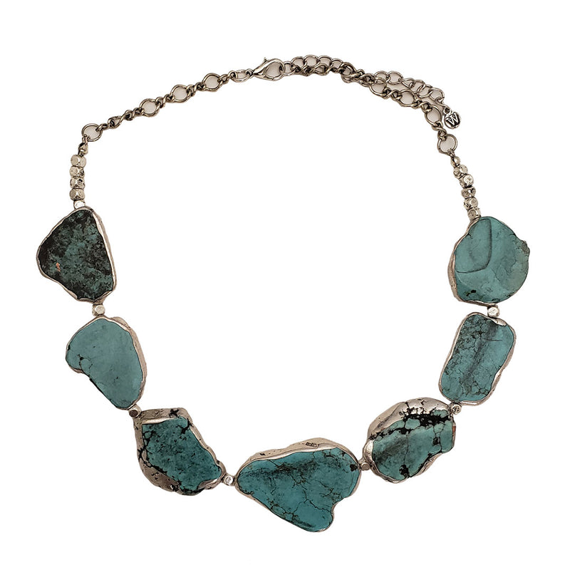 Cindy Smith Smoky Turquoise Slab Necklace