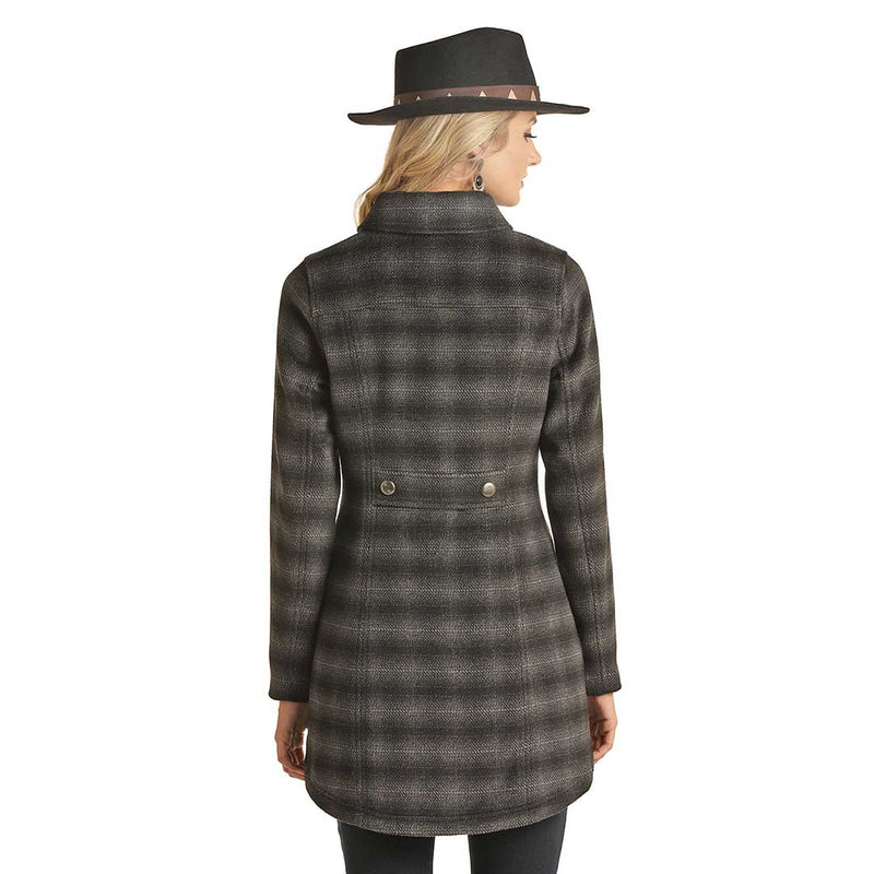 Powder River Outfitters Women's Twill Plaid Coat