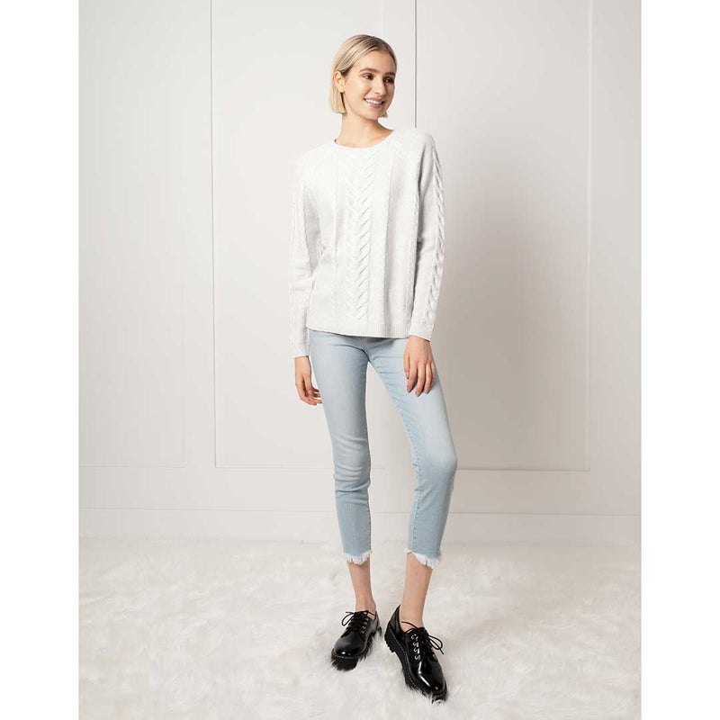 Motion Athleisure Women's Cable Knit Sweater