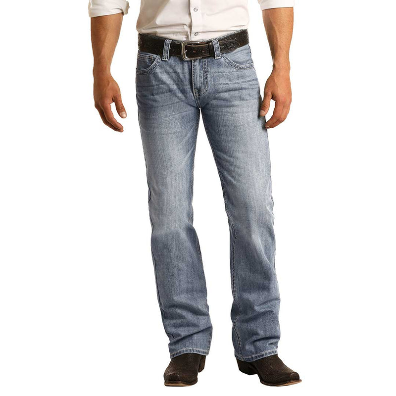 Rock & Roll Denim Men's Pistol Straight Leg Jeans