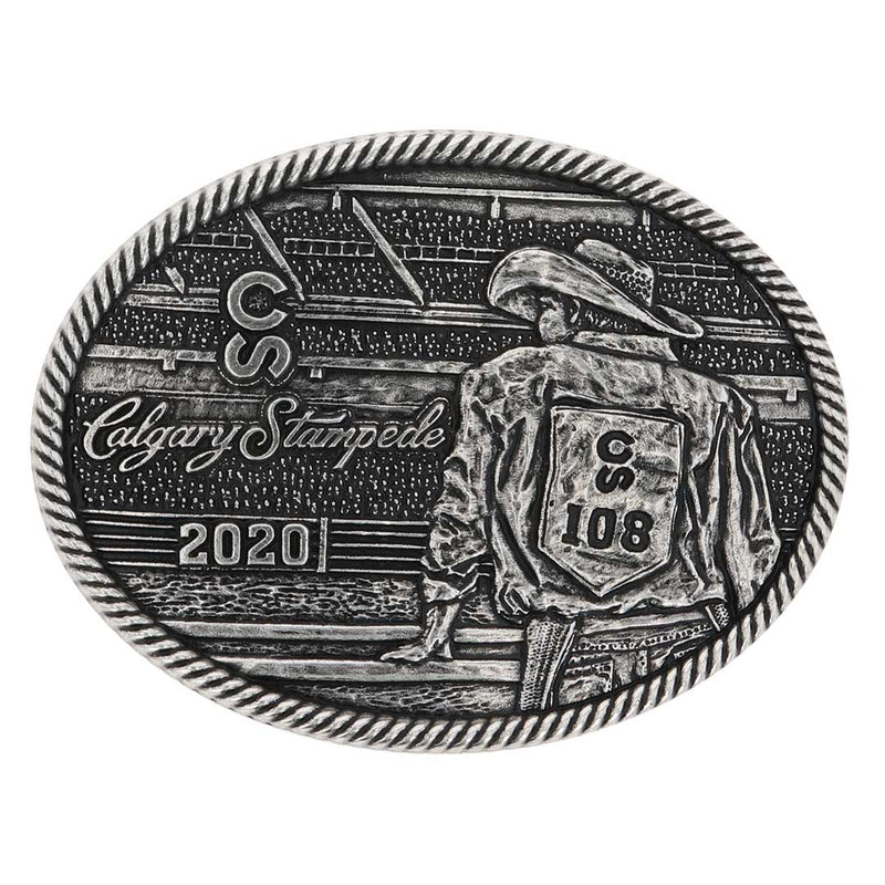 2020 Calgary Stampede Poster Buckle Pewter