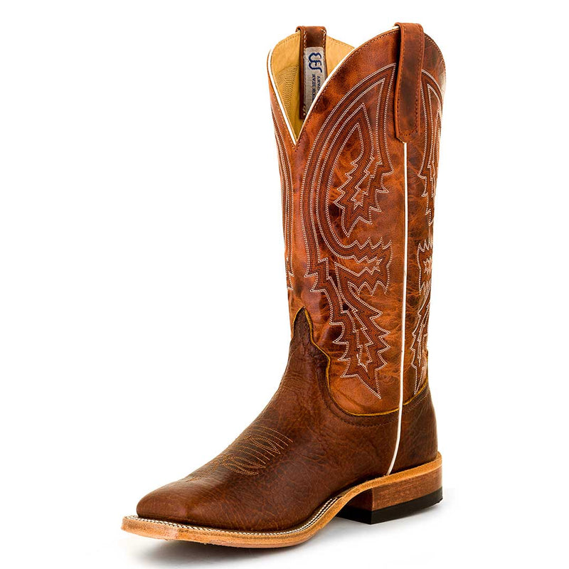 Anderson Bean Men's Square Toe Bison Cowboy Boots