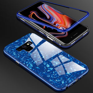 Magnetic Adsorption Shell Glass Protective Cases for Samsung Note 9 Note 8 S9Plus S9 S8Plus S8 S7Edge S7