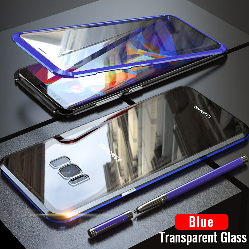 Upgraded Two Side Tempered Glass Magnetic Adsorption Phone Case for Samsung S8 S8 Plus Note 8