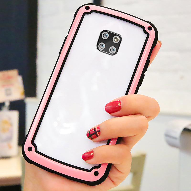 High Appearance Fashion Hard Silicone Airbag Drop Protection Full Coverage Case for Huawei Mate20 Mate20Pro Mate20Lite