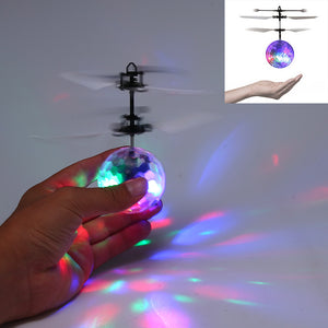Flying RC Crystal Ball Disco LED Light Helicopter - Transparent