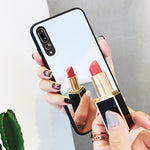 Luxury Clear Makeup Mirror Hard Tempered Glass Back Cover for Huawei  P20 P20Pro P30 P30Pro Mate 20 Mate 20Pro P20Lite