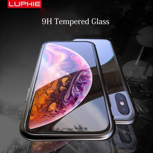 Upgraded Two Side Tempered Glass Magnetic Adsorption Phone Case for iPhone XS Max XR XS X 8Plus 7Plus 7 8 6sPlus