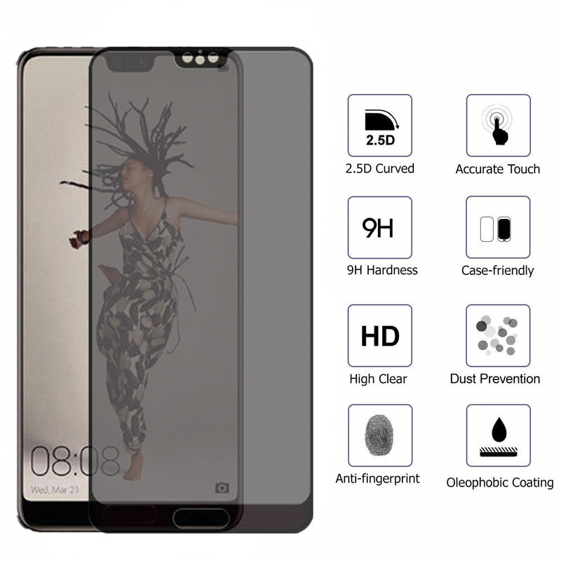 9H Full Coverage Anti-peep Tempered Glass Screen Protector for Huawei P30 P30Lite P20 Pro Lite Mate 20 Mate 20Lite Mate 20X Nova 3i 3E