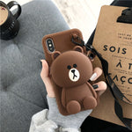Cute Cartoon Wallet Lanyard Phone Protective case for iPhone X XS XSMax XR 7 8 7Plus 8Plus 6sPlus