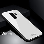 Luxury Shockproof Tempered Glass Back Cover Soft TPU Edge Case for Samsung Note 9 S9 S9Plus Note 8 S8 S8Plus