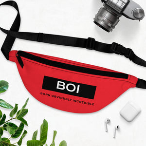 BOI Definition Fanny Pack- Red