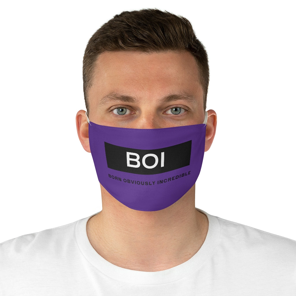 BOI Signature (Purple)  Fabric Face Mask