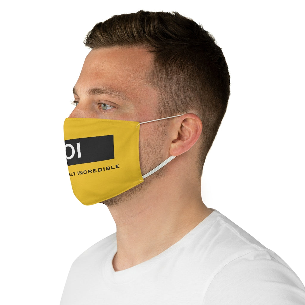 BOI Signature (Yellow)  Fabric Face Mask