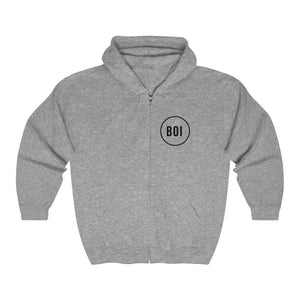 BOI Circle - Unisex Heavy Blend™ Full Zip Hooded Sweatshirt